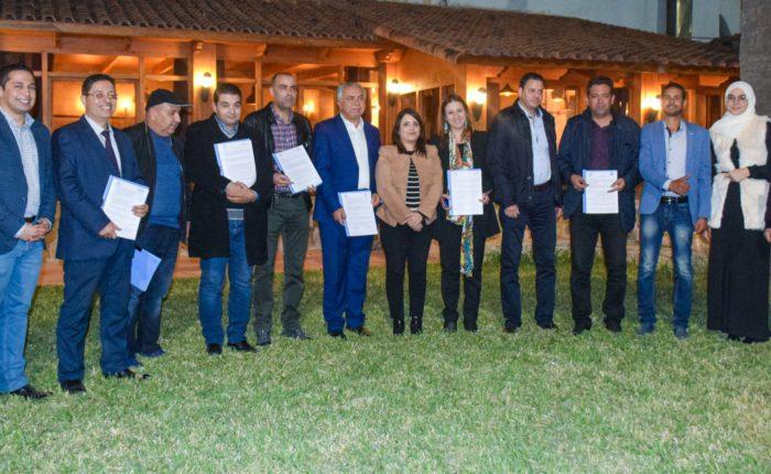 La cérémonie de signature des conventions de partenariats